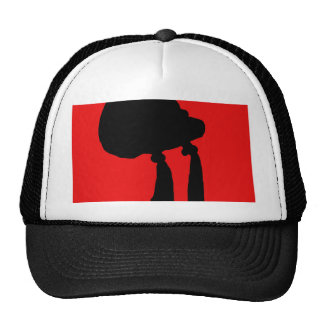 Red abstraction cap