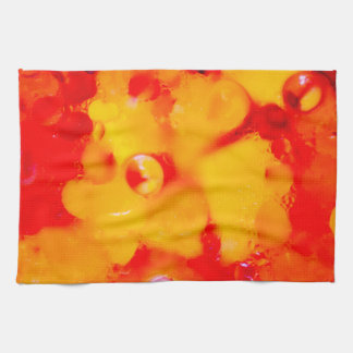 Red abstraction tea towel