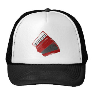 Red Accordion Cap
