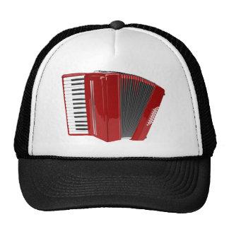 Red Accordion Mesh Hats