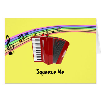 Red Accordion on Musical Rainbow Cards