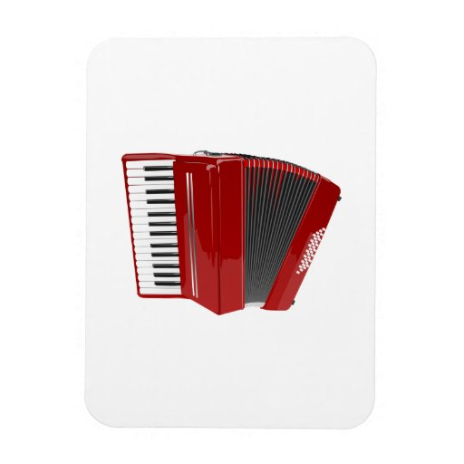 Red Accordion Magnets