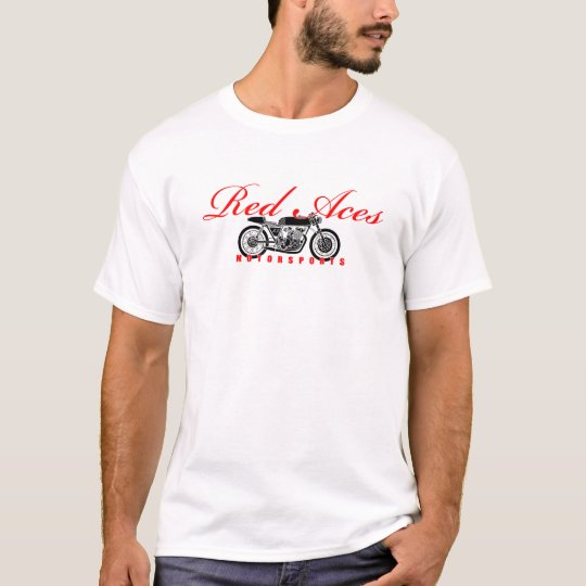 Red Aces Motorsports Cafe Racer Shirt Quality T-sh