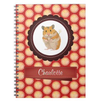 Red Add Your Name Hamster Notebook