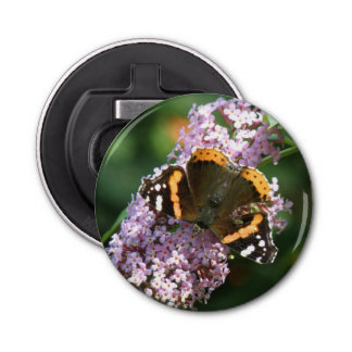Red Admiral Butterfly and Buddleia Bottle Opener