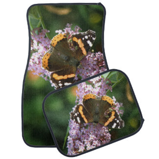 Red Admiral Butterfly and Buddleia Car Mat Set