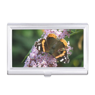 Red Admiral Butterfly and Buddleia Card holder