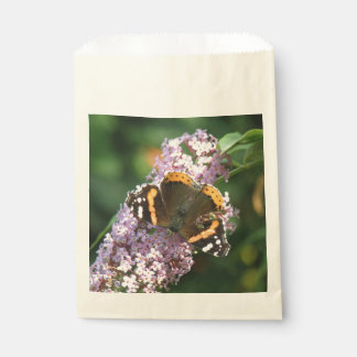 Red Admiral Butterfly and Buddleia Favor Bags