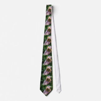 Red Admiral Butterfly and Buddleia Tie