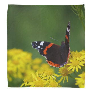 Red Admiral Butterfly Bandana