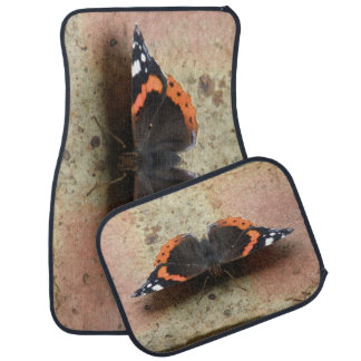 Red Admiral Butterfly Car Mat Set