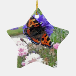 Red Admiral Butterfly Christmas Ornament