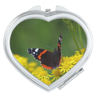 Red Admiral Butterfly Compact Mirror
