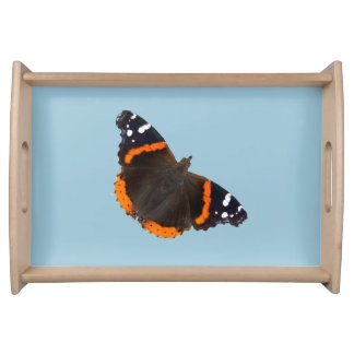 Red Admiral butterfly design food trays