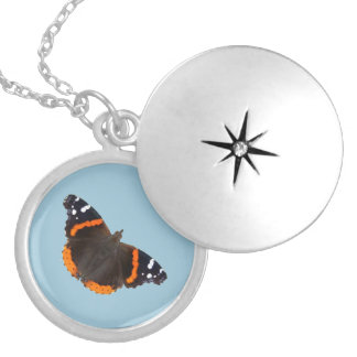 Red Admiral butterfly design lockets