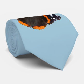 Red Admiral butterfly design neck ties