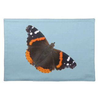Red Admiral butterfly design placemats