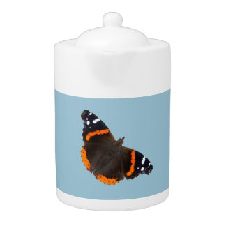 Red Admiral butterfly design teapots