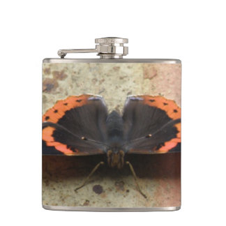 Red Admiral Butterfly Flask