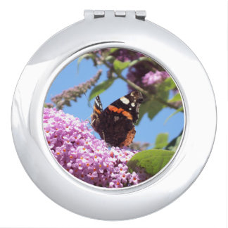 Red Admiral Butterfly Mirror For Makeup