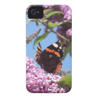 Red Admiral Butterfly Nature iPhone 4 Case-Mate Case
