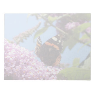 Red Admiral Butterfly On Buddleia Notepad
