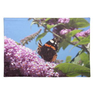Red Admiral Butterfly on Buddleia Placemat