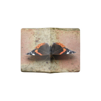 Red Admiral Butterfly Passport Holder