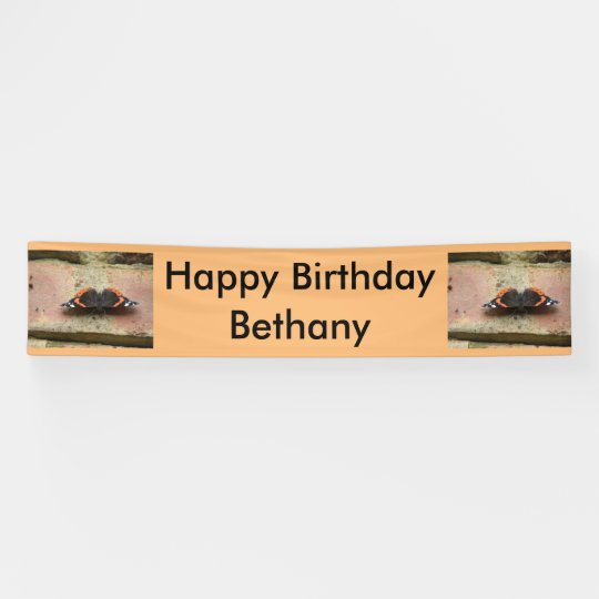 Red Admiral Butterfly Personalised Banner