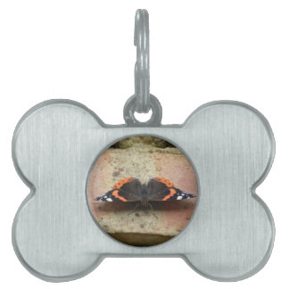 Red Admiral Butterfly Pet Tag