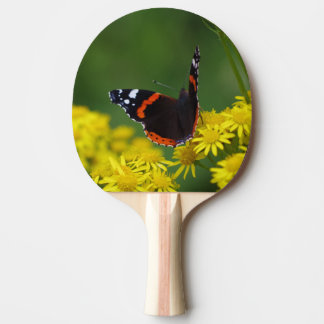 Red Admiral Butterfly Ping Pong Bat Ping Pong Paddle