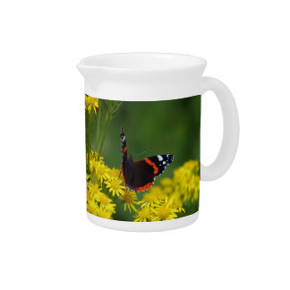 Red Admiral Butterfly Pitcher