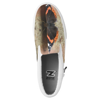 Red Admiral Butterfly Slip on Shoes