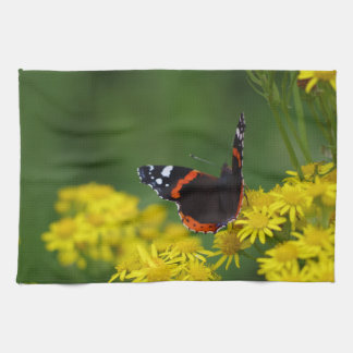 Red Admiral Butterfly Tea Towel