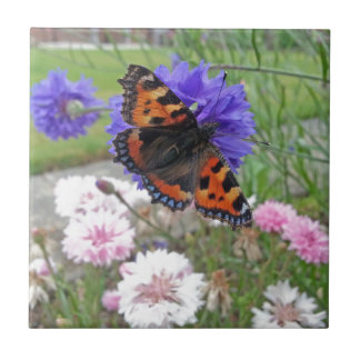 Red Admiral Butterfly Tile