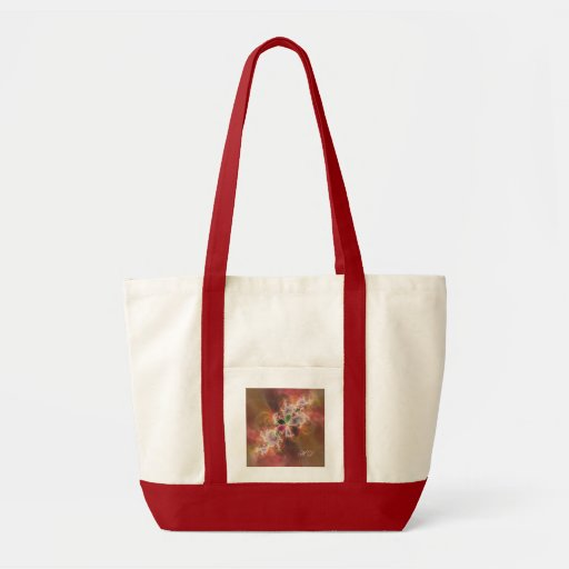 Red Admiral Colours Fractal Canvas Bags