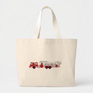 Red Aerial Scope Custom Fire Truck Design Jumbo Tote Bag