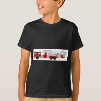 Red Aerial Scope Custom Fire Truck Design T-Shirt