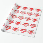 Red Aeroplane Wrapping Paper