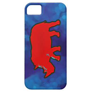 red africa rhinoceros barely there iPhone 5 case