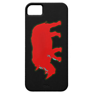 red africa rhinocerus iPhone 5 cover