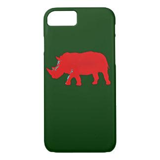 red africa rhinocerus iPhone 7 case