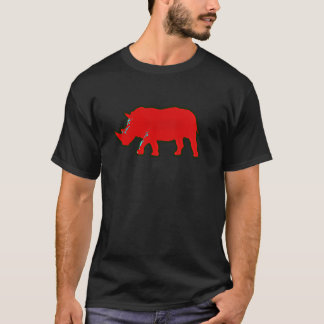 red africa rhinocerus T-Shirt