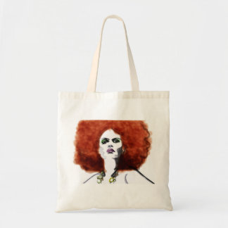 Red Afro Tote Bag