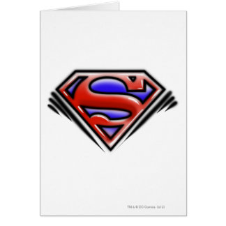 Red Airbrush Superman Logo Greeting Card