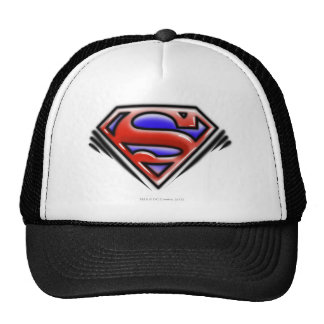 Red Airbrush Superman Logo Trucker Hat