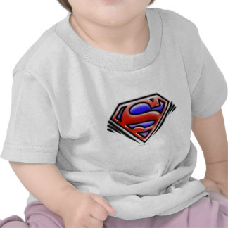 Red Airbrush Superman Logo T Shirt