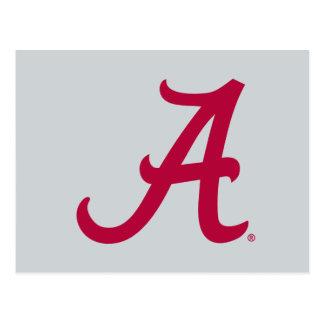 "Red Alabama ""A"" Postcard"