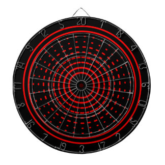 Red Alarm Abstract Gamma Led Light Dartboard