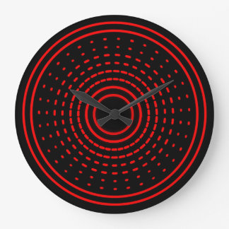 Red Alarm Abstract Spinning Gamma Led Light Clock